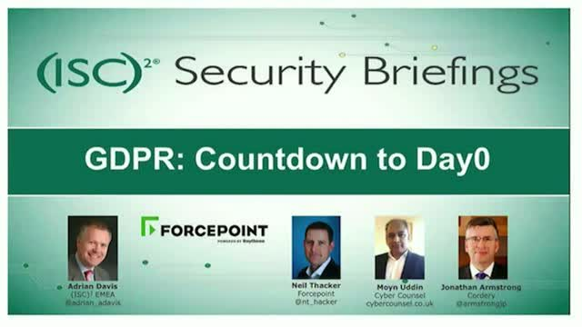 GDPR: Countdown to Day 0
