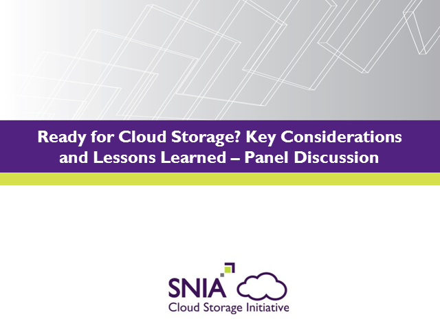 Ready for Cloud Storage? Key Considerations & Lessons Learned
