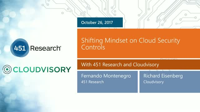 Shifting Mindset on Cloud Security Controls