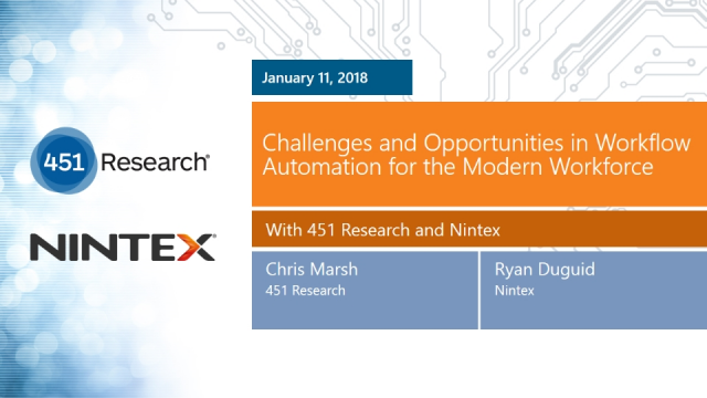 Challenges and Opportunities in Workflow Automation for the Modern Workforce