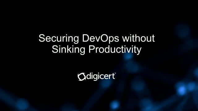 Securing DevOps without Sinking Productivity