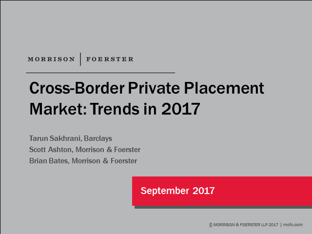 Latest developments in the global private placement market
