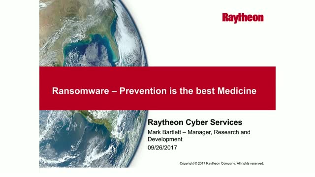 Ransomware: Prevention is the Best Medicine