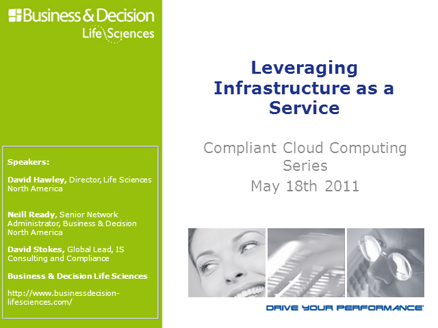 Compliant Cloud Computing Leveraging Infrastructure as a Service