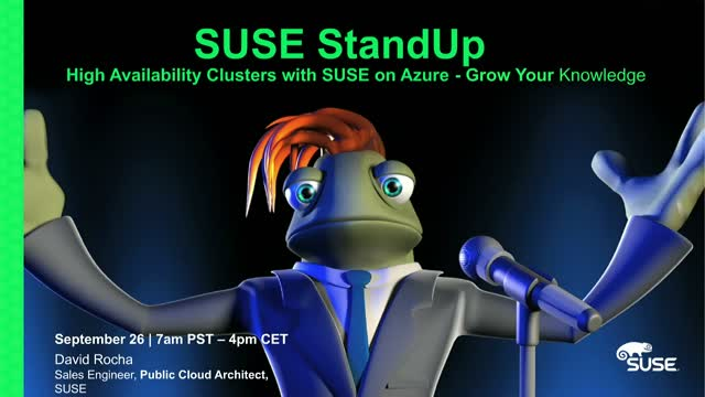 High Availability Clusters with SUSE on Azure