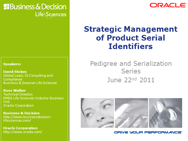 Pedigree & Serialization: Strategic Management of Serial IDs