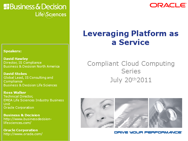 Compliant Cloud Computing: Leveraging Platform as a Service