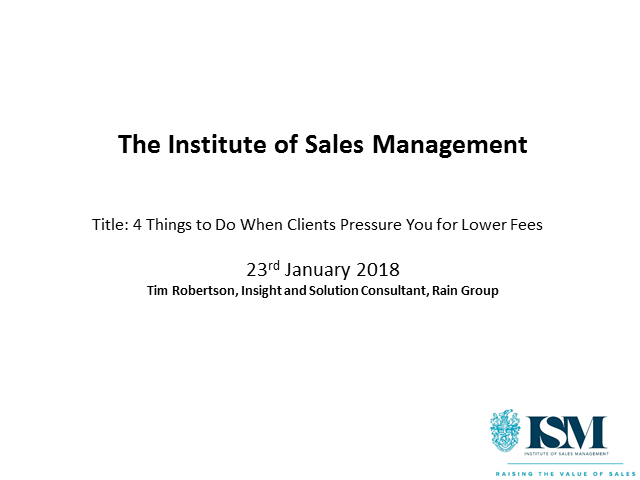 4 Things to Do When Clients Pressure You for Lower Fees