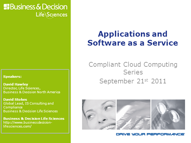 Compliant Cloud Computing: Applications and Software as a Service