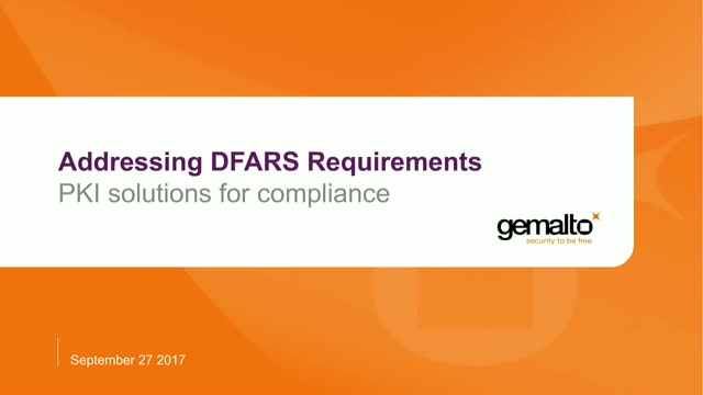 Are you Ready for DFARS?