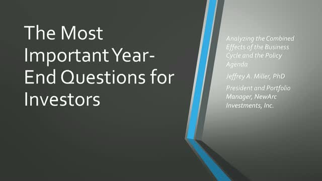 The Most Important Year-End Questions for Investors