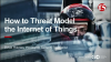Threat Modeling the Internet of Things