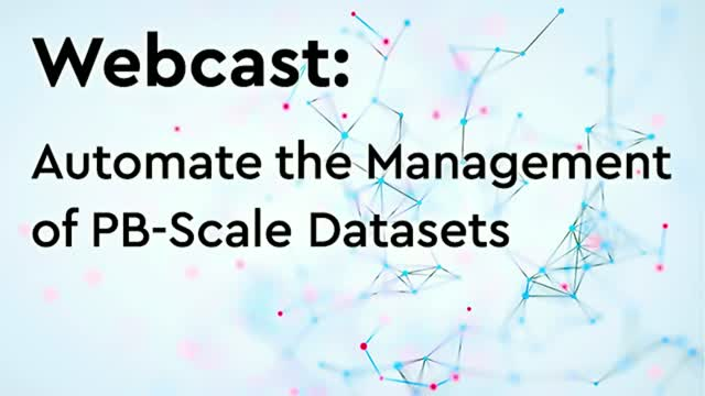 Automate Data Management for PB-scale Datasets