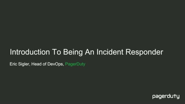 Introduction to Being an Incident Responder