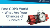 Post GDPR World - What Are Your Chances of Survival?