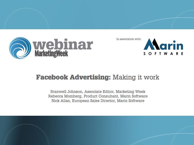 Facebook Advertising: Making it work