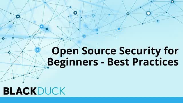 The Basics of Open Source Security
