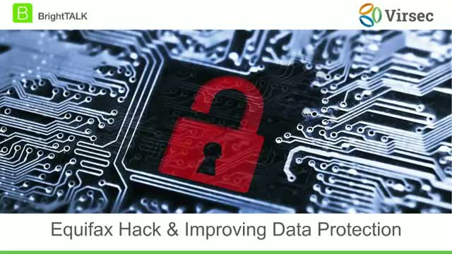 Equifax Hack and Improving Data Protection