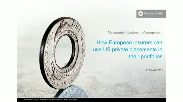 How European insurers can use US private placements in their portfolios