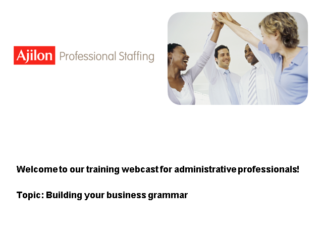 Building Your Business Grammar for Administrative Professionals
