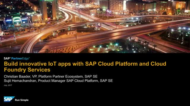 Discover How to Build IoT Apps with SAP Cloud Platform & Cloud Foundry Services