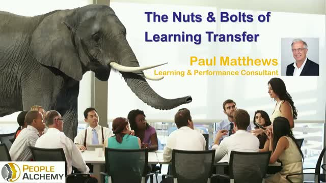 The Nuts & Bolts of Learning Transfer