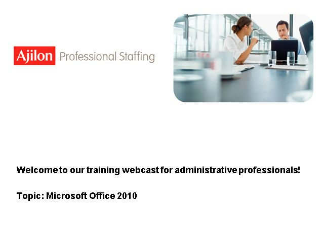 Microsoft Office 2010 for Administrative Professionals