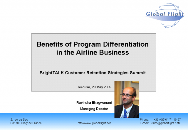 Benefits of Program Differentiation in the Airline Business
