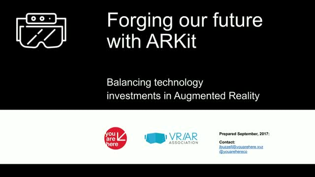 Forging our Future with ARKit: Balancing Tech Investments in Augmented Reality