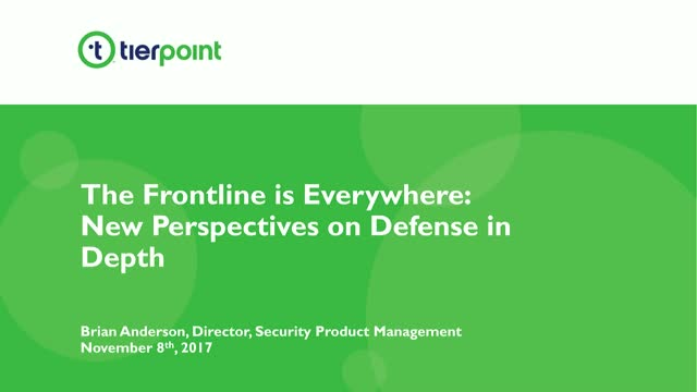 The Frontline Is Everywhere: New Perspectives on Defense in Depth