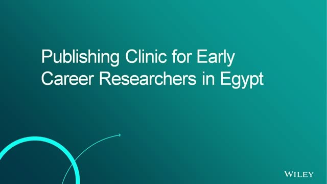 Publishing Clinic for Early Career Researchers in Egypt