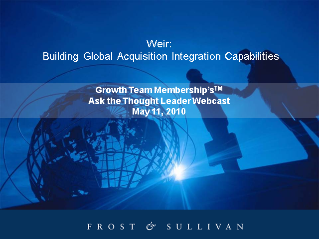 Building Global Acquisition Integration Capabilities