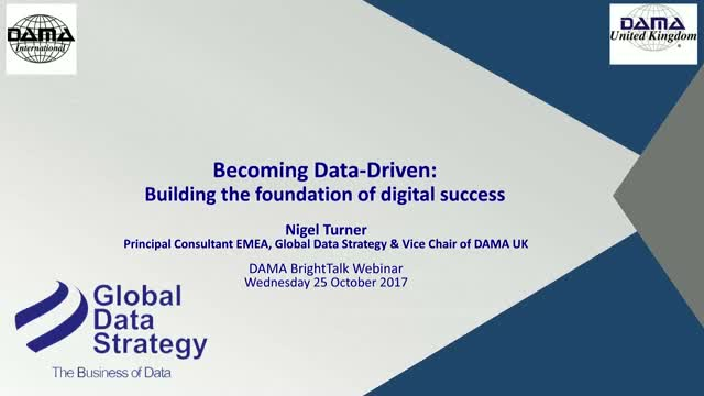 Becoming Data Driven: Building the Foundation of Digital Success