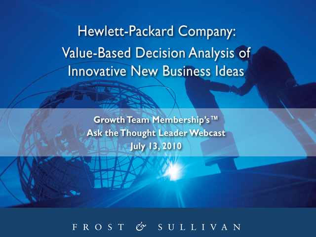 Value-Based Decision Analysis of Innovation New Business Ideas
