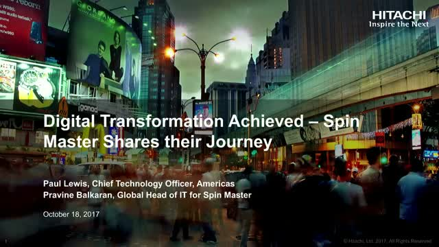 Digital Transformation Achieved – Hitachi Customer, Shares their Journey