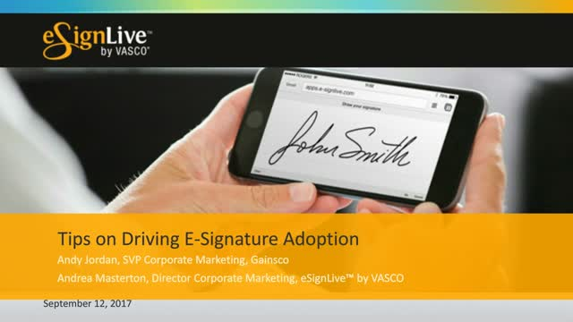 Webcast: Tips on Driving E-Signature Adoption in Your Independent Agent Channel