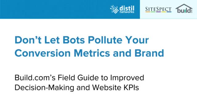 Don't Let Bots Pollute Don't Let Bots Pollute Your Conversion Metrics and Brand
