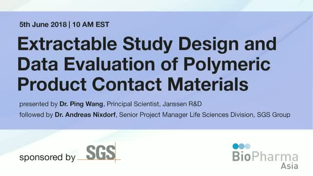 Extractable Study Design & Data Evaluation of Polymeric Product Contact Material