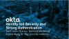Identity-Led Security and Strong Authentication