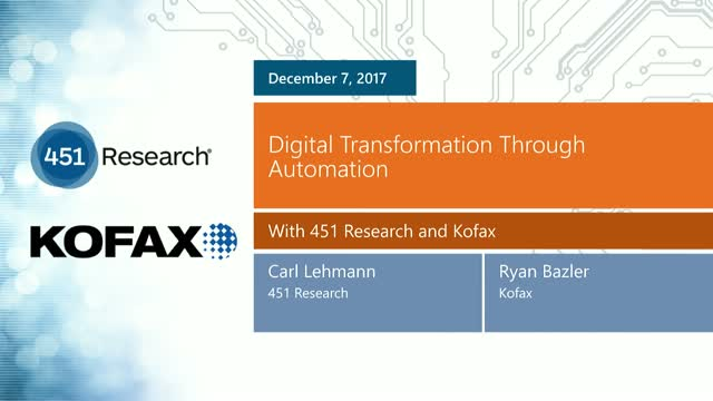 Digital Transformation Through Automation