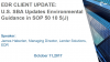 CLIENT UPDATE: SBA Updates Environmental Guidance with new SOP 50 10 5(J)