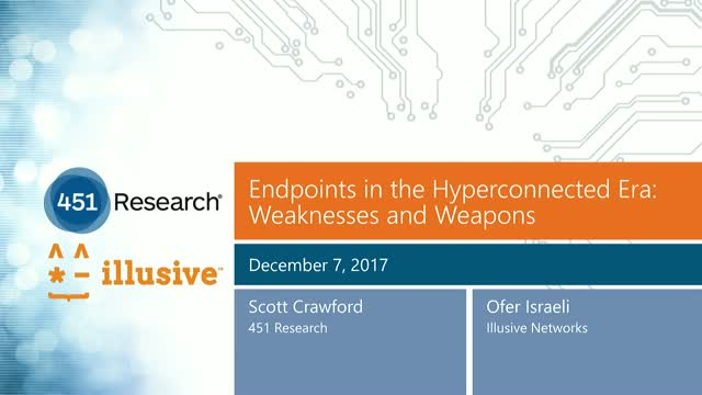 Endpoints in the Hyperconnected Era: Weaknesses and Weapons