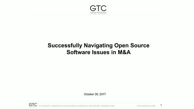 Successfully Navigating Open Source Software Issues in M&A