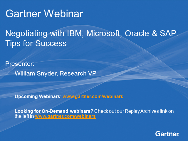 Negotiating with IBM, Microsoft, Oracle & SAP: Tips for Success