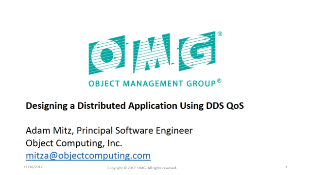 Designing a Distributed Application Using DDS QoS