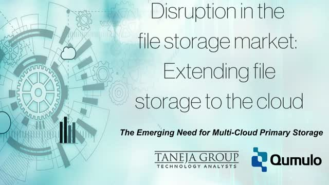 Disruption of the file storage market:  Extending file storage to the cloud