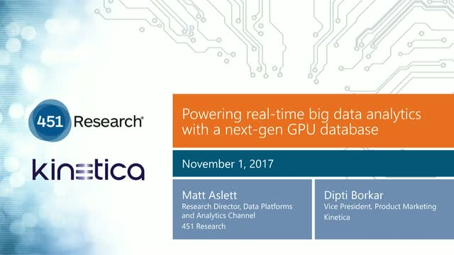Powering Real-Time Big Data Analytics with a Next-Gen GPU Database