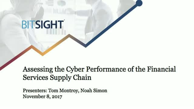 Assessing the Cyber Performance of the Financial Services Supply Chain