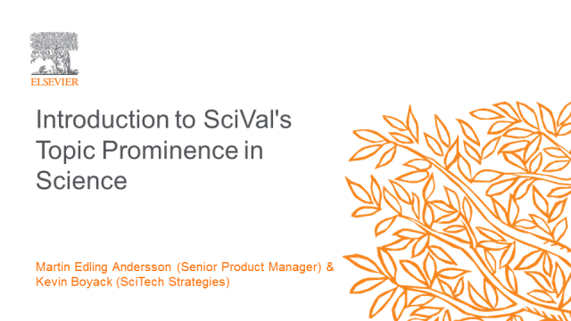 SciVal's Topic Prominence in Science
