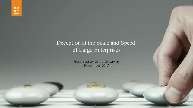 Deception at the Scale and Speed of Large Enterprises